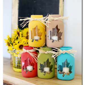 Maple Leaf Mason Jars