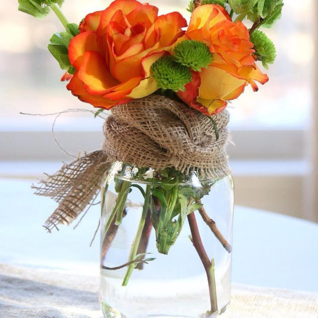 masonjar fall flower arrangement from dukemanorfarm falldecor masonjardecor masonjarcrafts