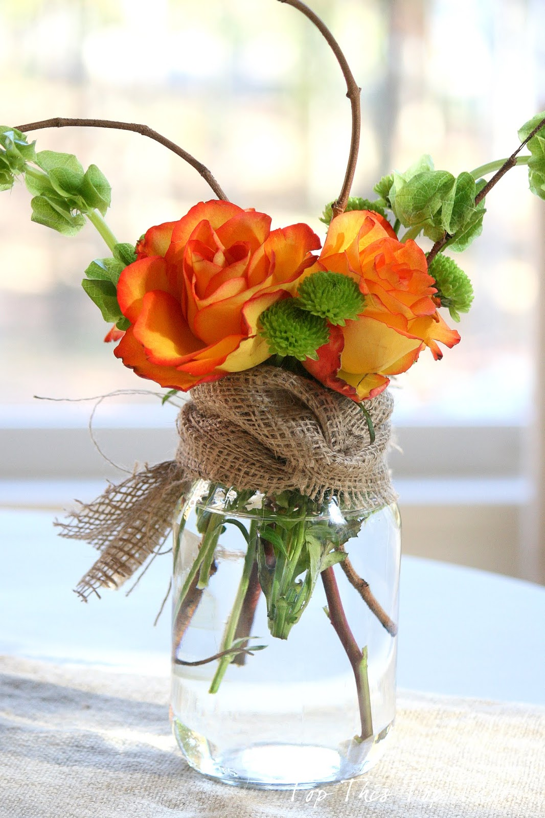 Fall mason jar flower arrangement mason jar crafts love for A arrangement florist flowers