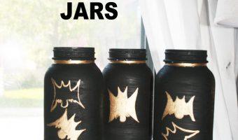 Halloween Bat Mason Jars