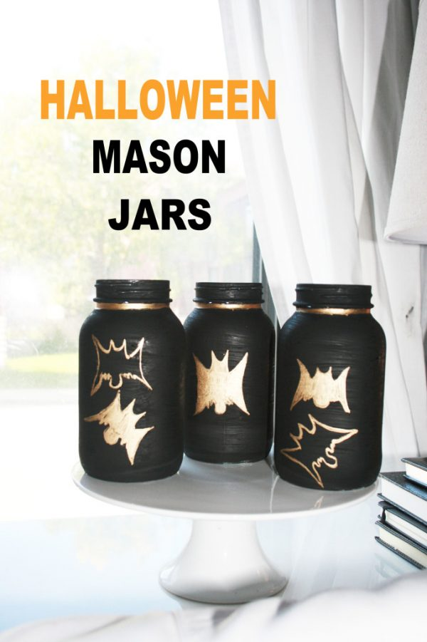 Halloween Bat Mason Jars