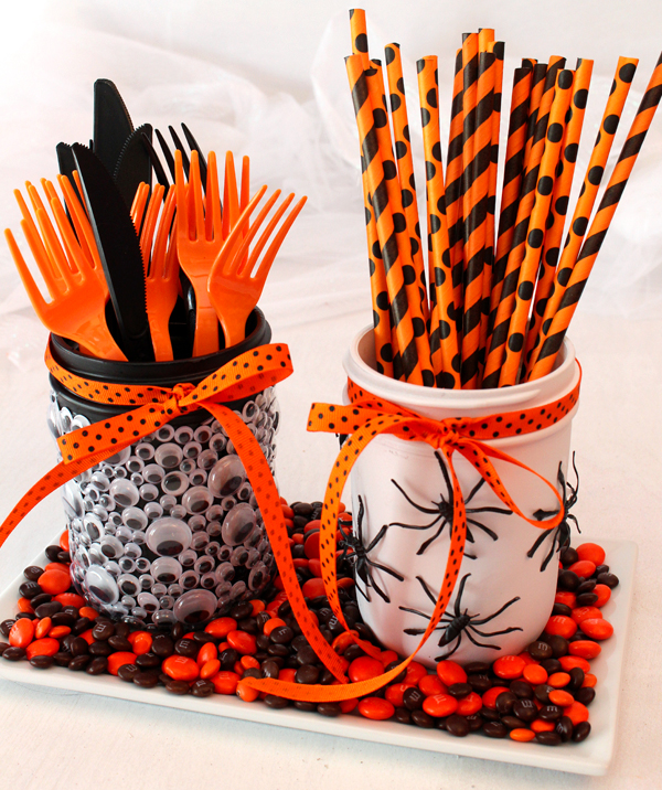 Halloween Party Mason Jars