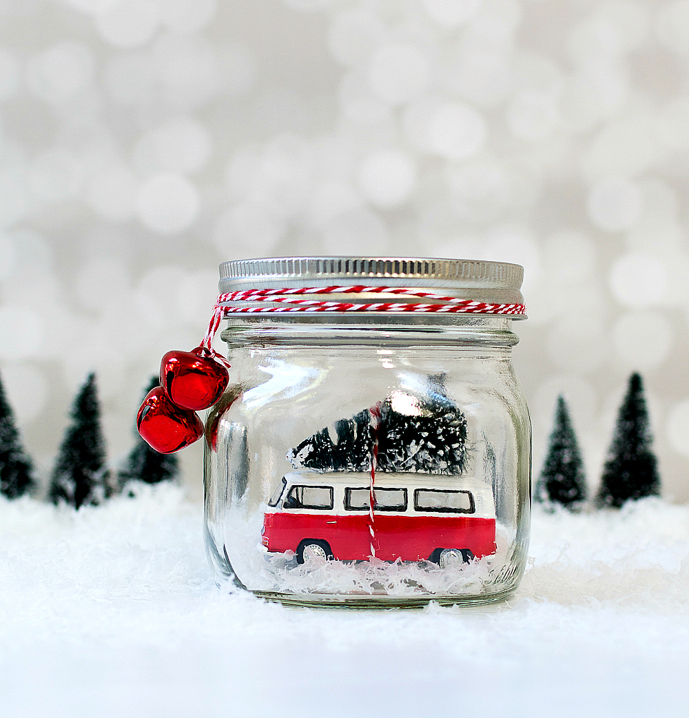 mason jar snow globes - Large Christmas Snow Globes