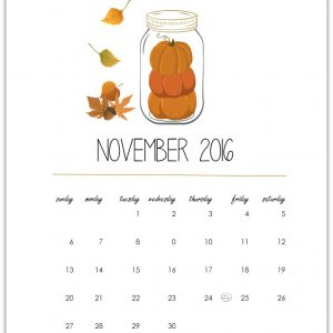 November Calendar Page – Free Download