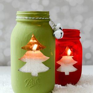 Christmas Tree Mason Jars
