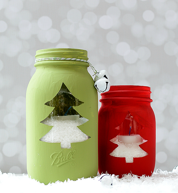 christmas tree cut out mason jar it all