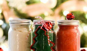 Stocking Stuffer Ideas: Mini Mason Jar Christmas Clay Dough