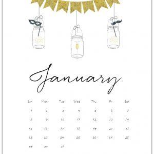 January 2017 Calendar Page Printable
