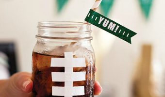 Football Mason Jar Mugs
