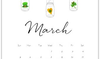 Free Calendar Page for March 2017