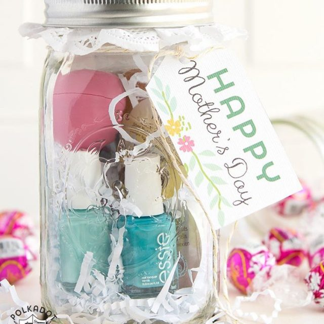 Spa in jar masonjar gift idea for mothersday frim polkadotchairhellip