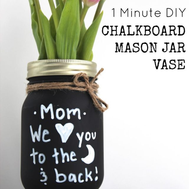 Last minute mothersdaygift idea with masonjar from weheartparties masonjarcrafts
