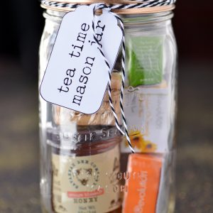 Mother's Day Tea Time Mason Jar Gift - Mother's Day Gift Ideas in Mason Jars