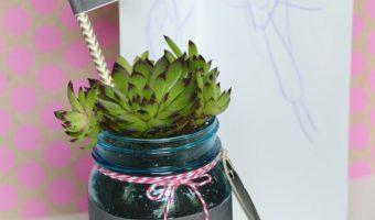 Teacher Gift Succulent Mason Jar Plant Holder - Homemade Teacher Gifts with Mason Jars