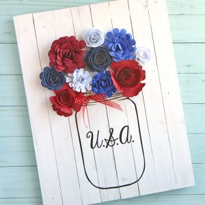 Red White Blue Mason Jar Craft