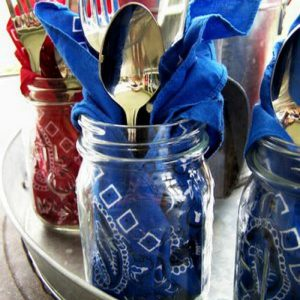 Red White Blue Decorating Ideas with Mason Jars