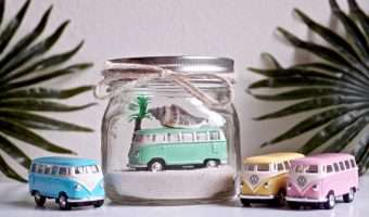 Beach Cars in Mason Jars