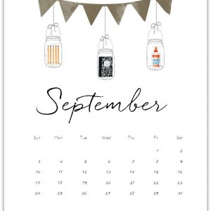 September Mason Jar Calendar