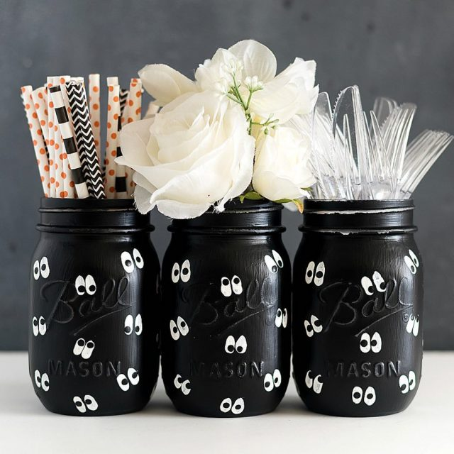 Google eye masonjars for halloween  link to this masonjarcrafthellip