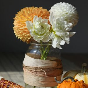 Fall Mason Jar Idea - Corn Husked Wrapped Jar
