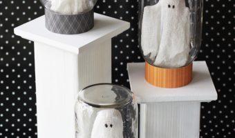 Ghosts in Jars Halloween Craft