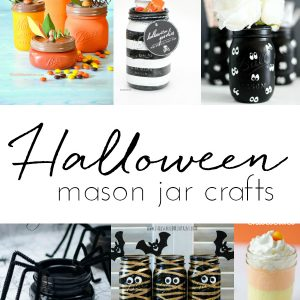 Halloween Crafts with Mason Jars - Mason Jar Crafts for Halloween - Kids Crafts for Halloween - 45+ Halloween Crafts with Mason Jars @www.MasonJarCraftsLove.com