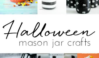 Halloween Crafts with Mason Jars - Mason Jar Crafts for Halloween - Kids Crafts for Halloween - 45+ Halloween Crafts with Mason Jars @www.MasonJarCraftsLove.com