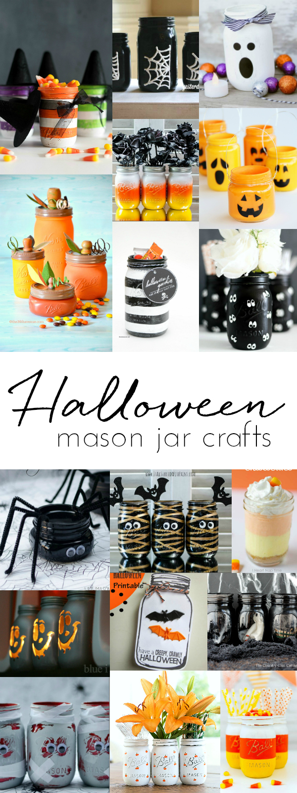 Halloween Crafts with Mason Jars - Mason Jar Crafts for Halloween - Halloween Kids Craft Ideas