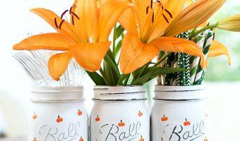Pumpkin Mason Jar Craft - Halloween Craft Ideas with Mason Jars