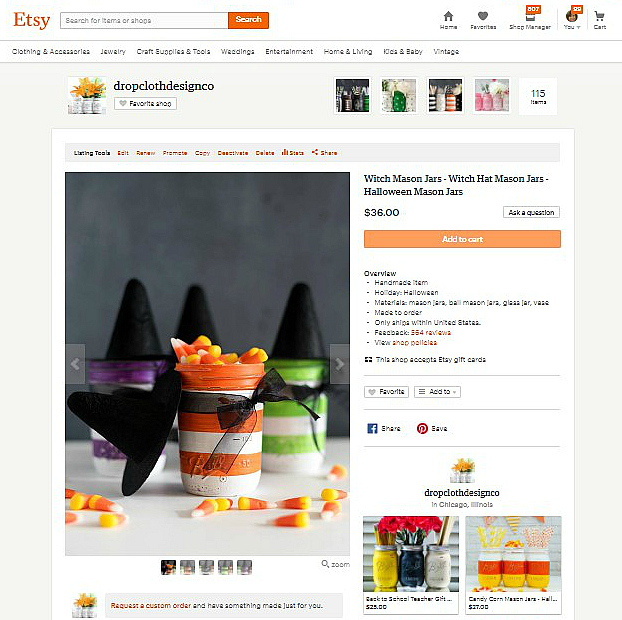 Witch Hat Mason Jars - Etsy Halloween Mason Jars