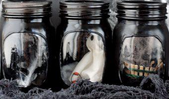 Mason Jar Haunted House Craft