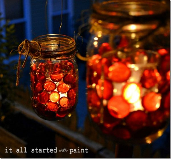 Mason Jar Votives for Fall