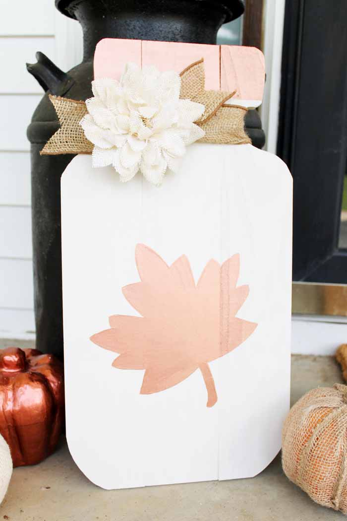 Fall Crafts with Mason Jars