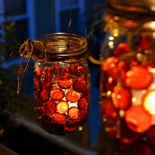 mason jar votives for fall from itallstartedwithpaint masonjardecor falldecor