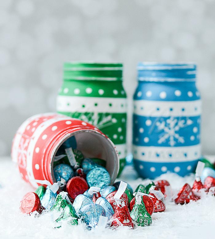 Mason Jar Chrismtas Craft Ideas - Mason Jar Holiday Sweater