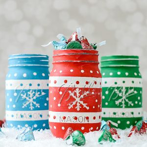 Ugly Christmas Sweater Mason Jars