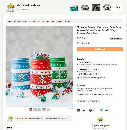 Holiday Sweater Mason Jar - Snowflake Sweater Mason Jars
