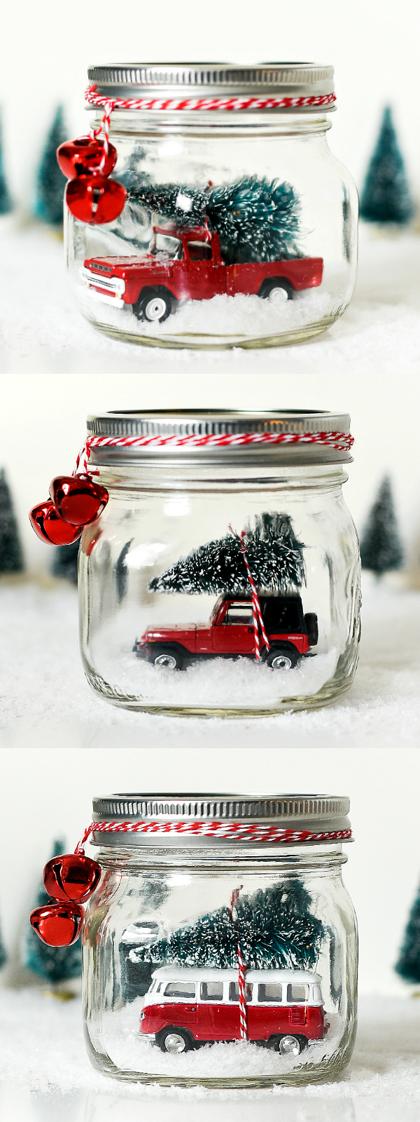 Jeep In Snow >> Mason Jar Snow Globe with Vintage Jeep Wrangler - Mason ...