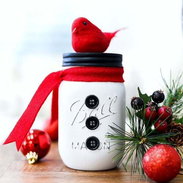 snowman masonjar wintercraft link in profile