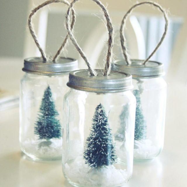 Loving these bottlebrushtree masonjar christmasornaments from simplyciani link in profile