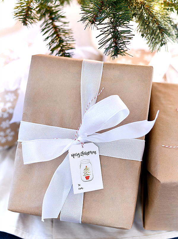 Mason Jar Christmas Gift Tags