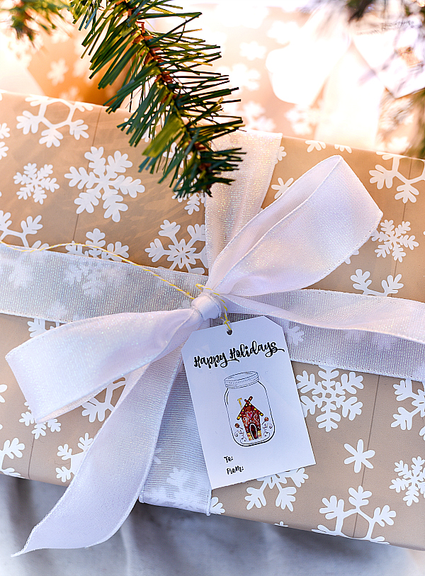Mason Jar Holiday Gift Tags