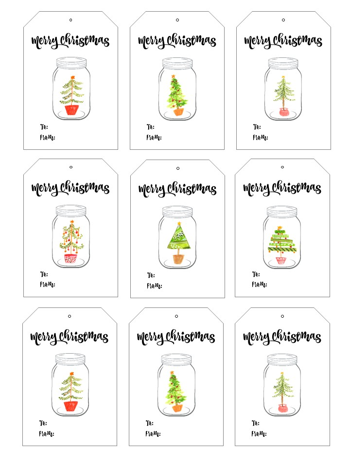 Mason jar christmas and holiday gift tags mason jar free printable christmas gift tags negle