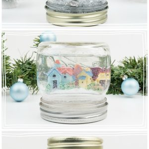 Mason Jar Snow Globes - Water and Waterless Snow Globes Using Mason Jars