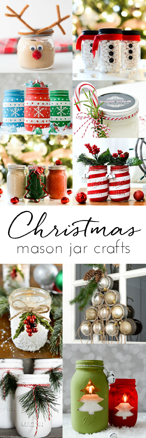 Christmas Mason Jar Craft Ideas