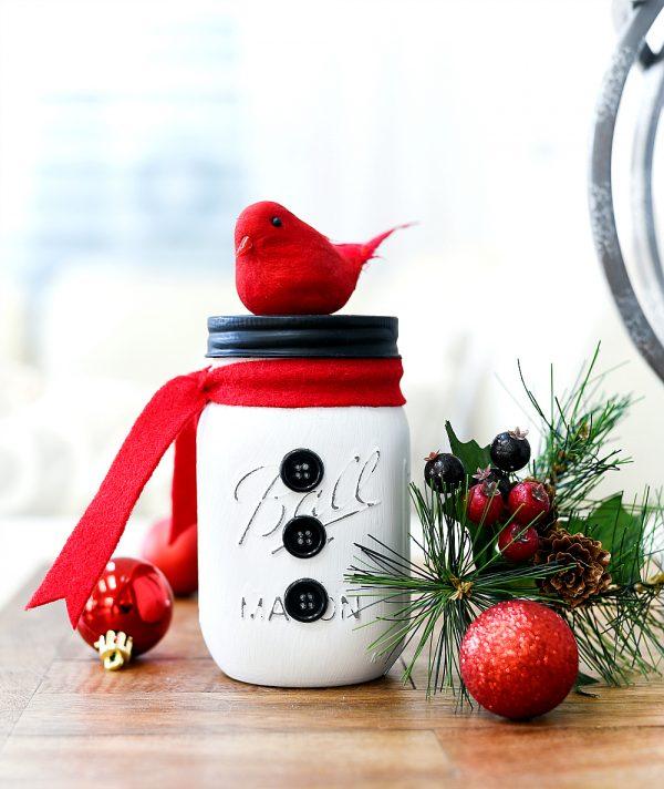 Snowman Mason Jars Mason Jar Crafts Love