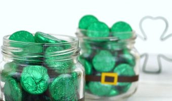 St. Patrick's Day Candy Jars with Kisses