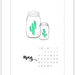 May Calendar Page Printable