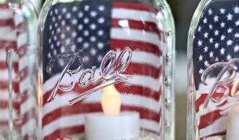 Red White Blue Mason Jar Craft Ideas