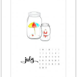 Free July 2018 Calendar Page Printable